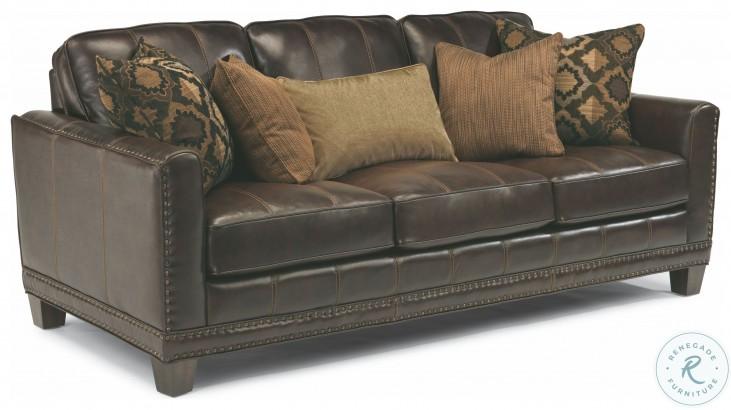 Port Royal Brown Leather Sofa