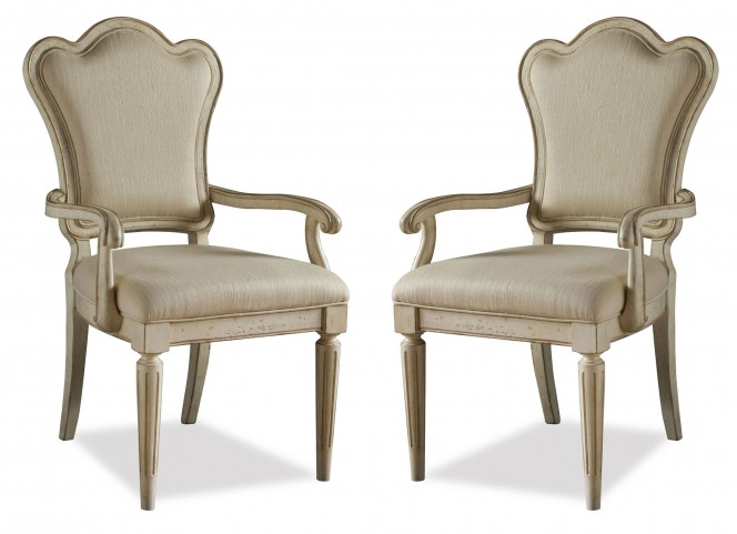 Provenance Upholstered Back Arm Chair Set of 2