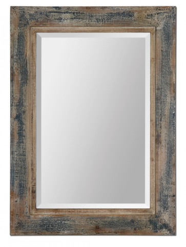 Bozeman Distressed Blue Mirror