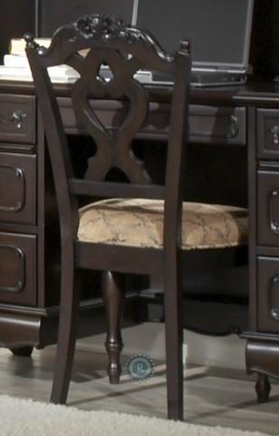 Cinderella Dark Cherry Side Chair Set of 2