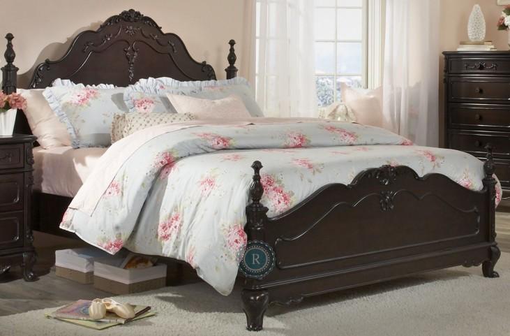 Cinderella Dark Cherry Queen Poster Bed