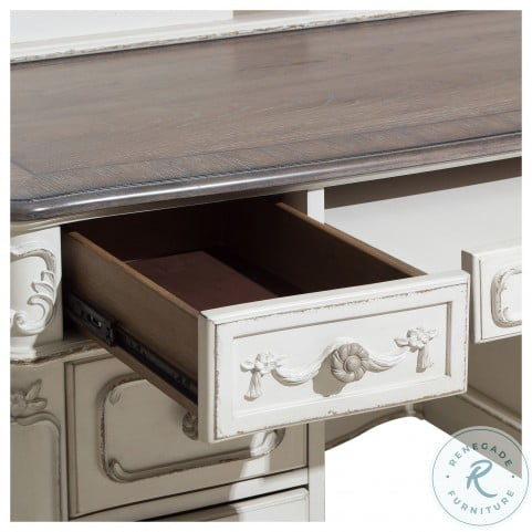Cinderella Antique White With Grey Writing Desk