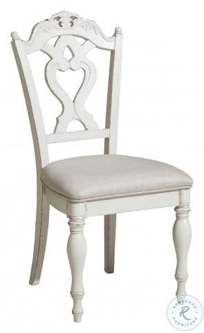 Cinderella Antique White Desk Chair