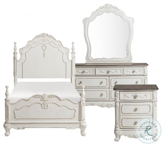 Cinderella Antique White With Grey Dresser