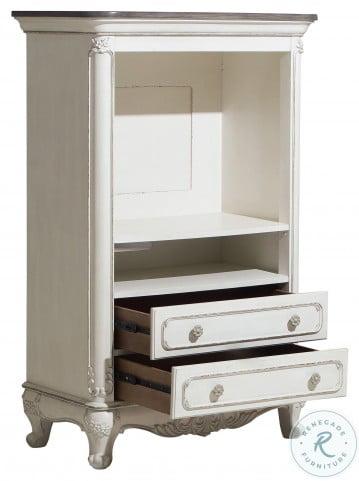 Cinderella Antique White With Grey Armoire