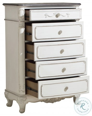 Cinderella Antique White With Grey Chest