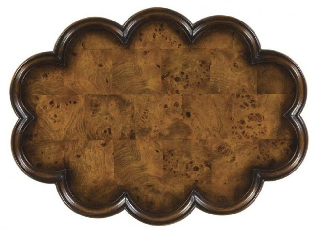 Masterpiece Lloyd Olive Ash Burl Oval Accent Table