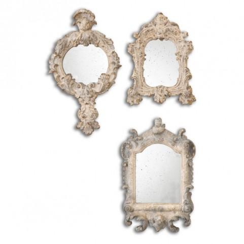 Rustic Artifacts Reflection Mirrors Set of 3