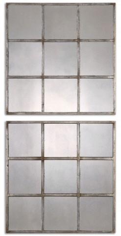 Derowen Squares Antique Mirrors Set of 2