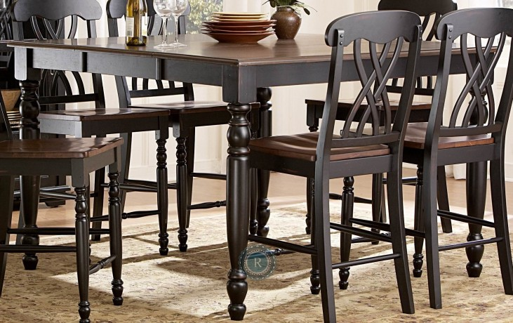 Ohana Black Counter Height Extendable Table