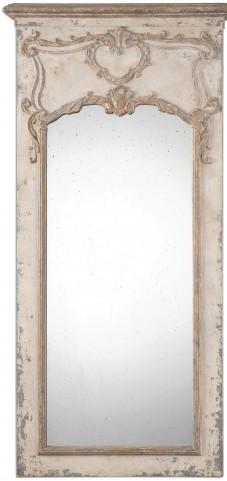 Carlazzo Antiqued White Mirror