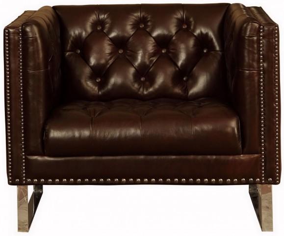 Bordeaux Cranberry Leather Chair