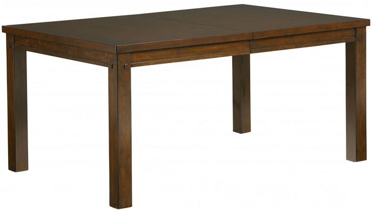 Cameron Golden Tobacco Brown Extendable Leg Dining Table