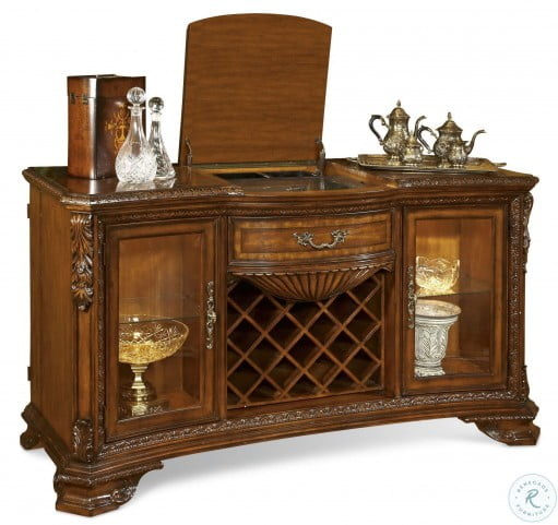 Old World Double Pedestal Extendable Dining Room Set