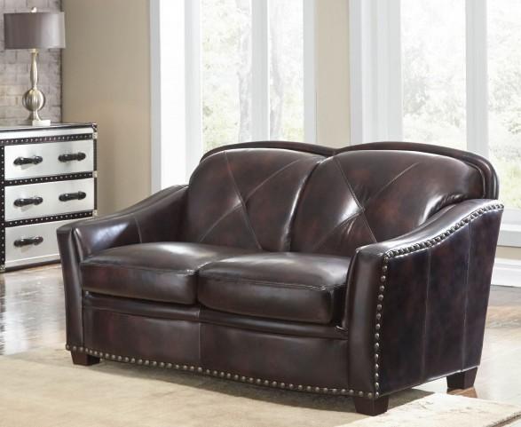 Lucinda Toberlone Leather Loveseat