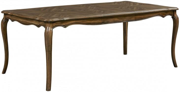 Monterey Caramel Brown Pine Extendable Rectangular Leg Dining Table