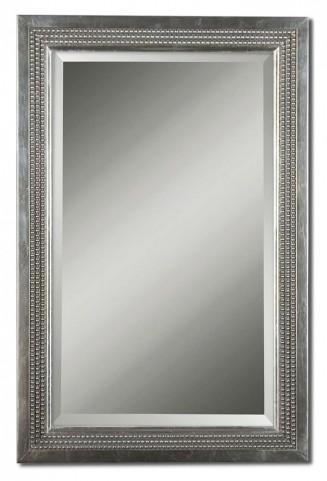 Triple Beaded Gray Vanity Mirror