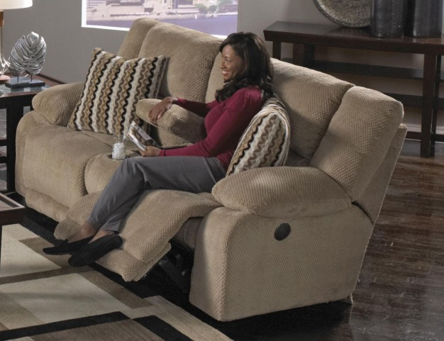Hammond Coffee Reclining Loveseat with Console