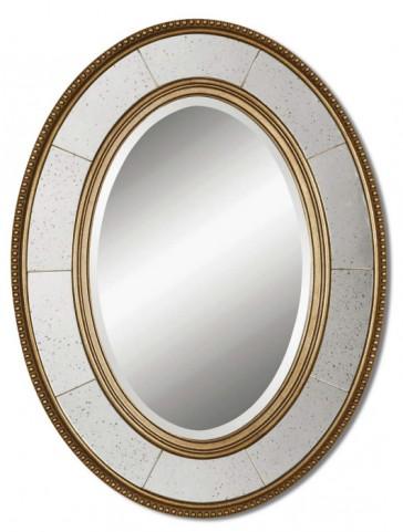 Lara Oval Silver Mirror