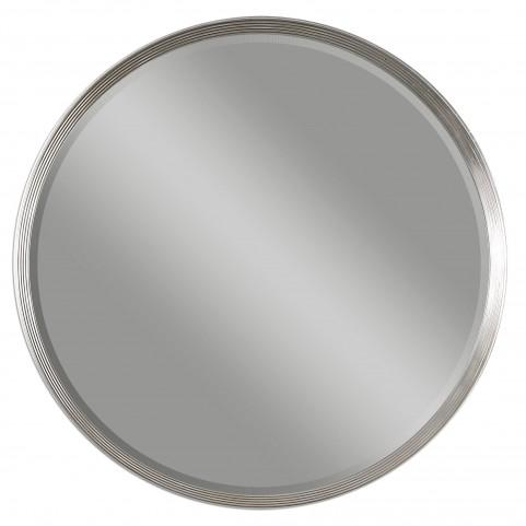 Serenza Round Silver Mirror