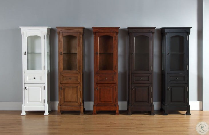 Brookfield Antique Black Linen Cabinet