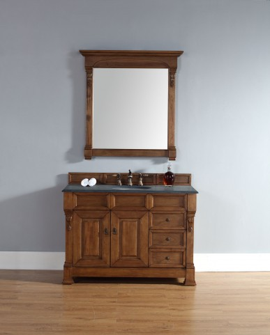 """Brookfield 48"""" Country Oak Single Vanity With 2Cm Black Granite Top"""