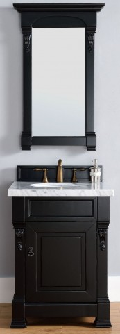 "Brookfield 26"" Antique Black Single 4Cm Top Vanity"