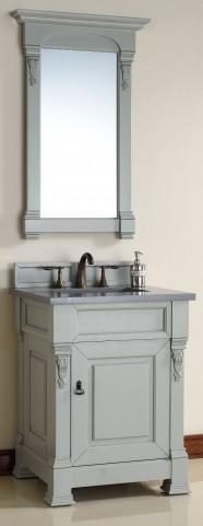 "Brookfield 26"" Urban Gray Single Vanity with 3CM Shadow Gray Quartz Top"