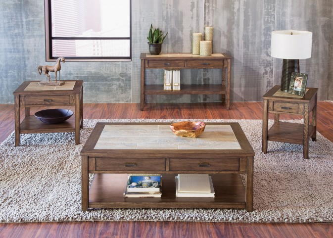Mesa Valley Tobacco Occasional Table Set