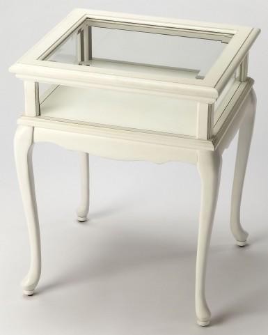 Burton Cottage White Curio Table