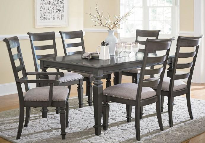 Garrison Burnished Grey Extendable Rectangular Leg Dining Room Set