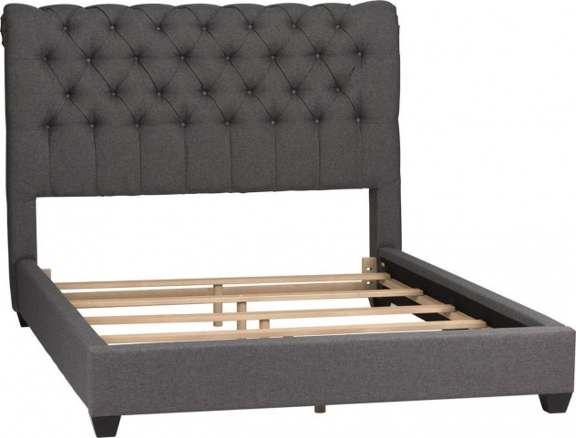 Dark Gray Upholstered King Sleigh Bed From Liberty 250 Br22hu 150 Br24f Coleman Furniture
