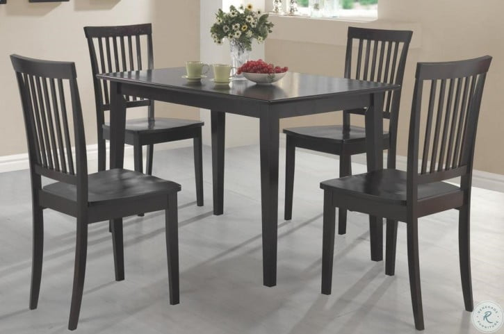 Admirable Oakdale Cappuccino 5 Piece Dining Room Set Download Free Architecture Designs Xoliawazosbritishbridgeorg