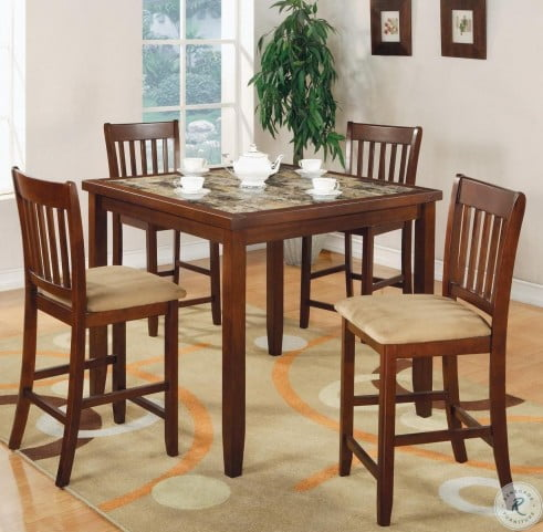 Normandie Cherry 5 Piece Counter Height Dining Room Set