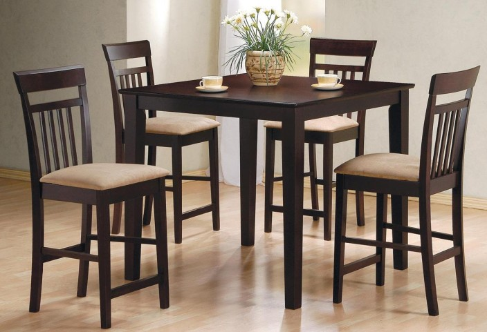 5 Pcs Black Counter Height Dining Set 150231BLK