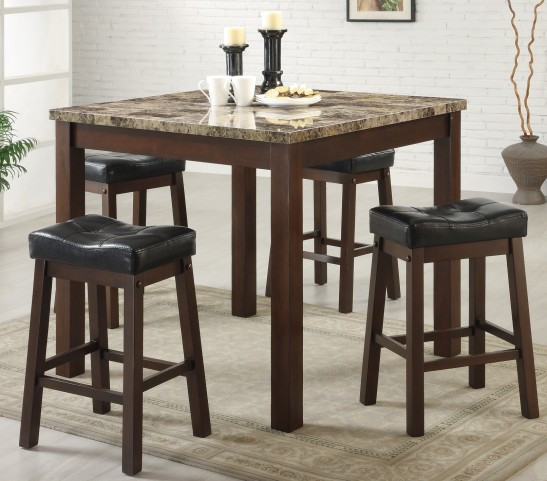 Sophia 5 Piece Counter Height sturdy post legs Dinette Set