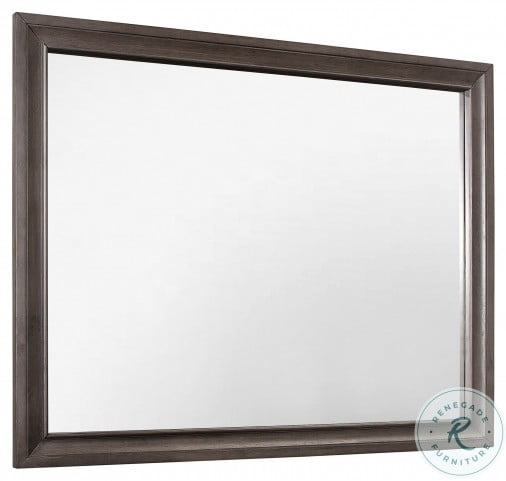 Luster Gray And Silver Glitter Mirror