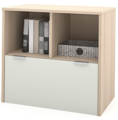 i3 Northern Maple & Sandstone One Drawer Lateral File