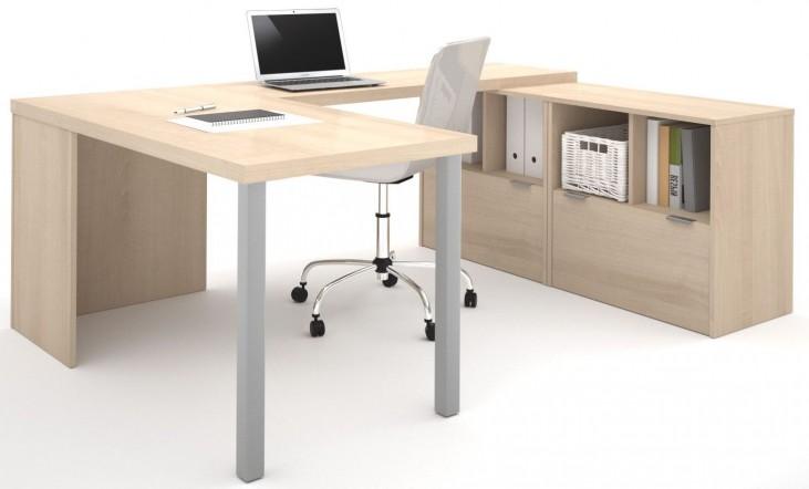 150864-38 i3 Northern Maple U-Shaped desk