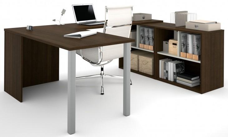 150871-78 i3 Tuxedo and Sandstone U-Shaped desk