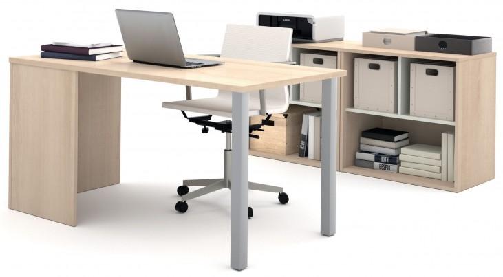 i3 Northern Maple and Sandstone Metal Leg Executive Set