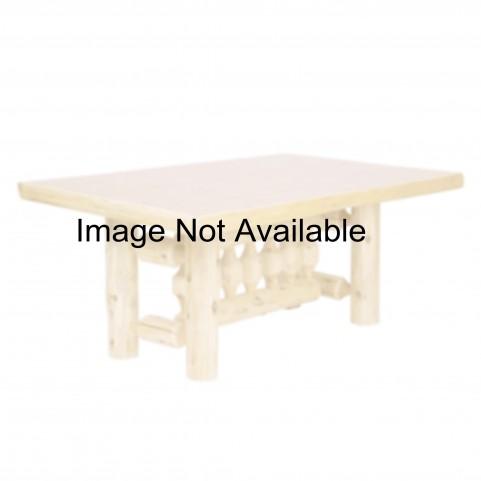 "Cedar 84"" Rectangular Liquid Glass Log Dining Table"