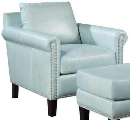 Belle Weston Blue Ice Leather Chair