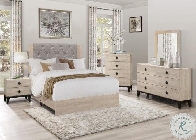 Whiting Cream Panel Bedroom Set
