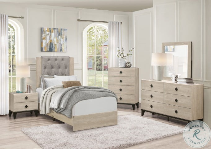 Whiting Cream Youth Panel Bedroom Set