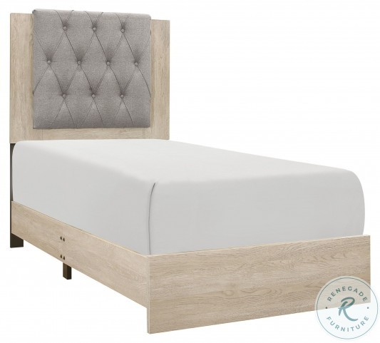Whiting Cream Twin Panel Bed In A Box