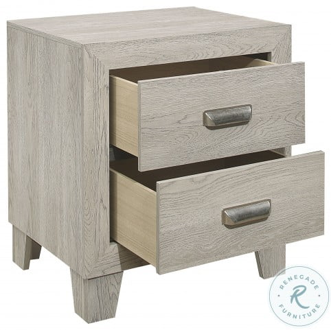 Quinby Light Brown Nightstand