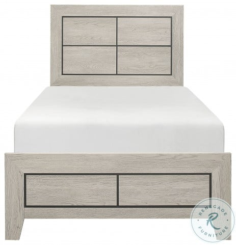 Quinby Light Brown Twin Panel Bed In A Box