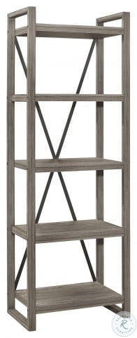 Bainbridge Weathered Gray Bookcase