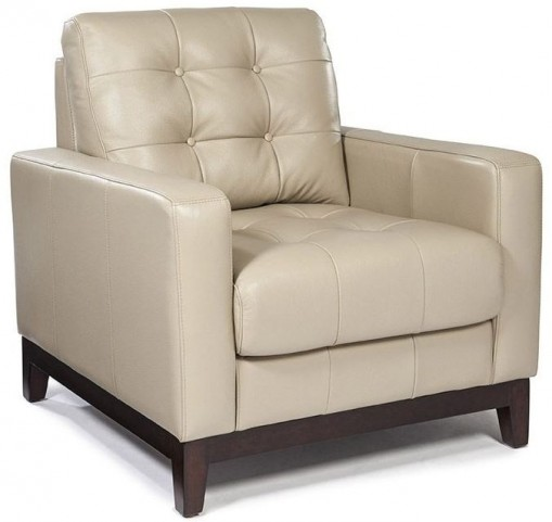 Clayton Taupe Leather Chair
